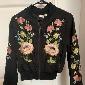 Glamorous Embroidered Cropped Jacket